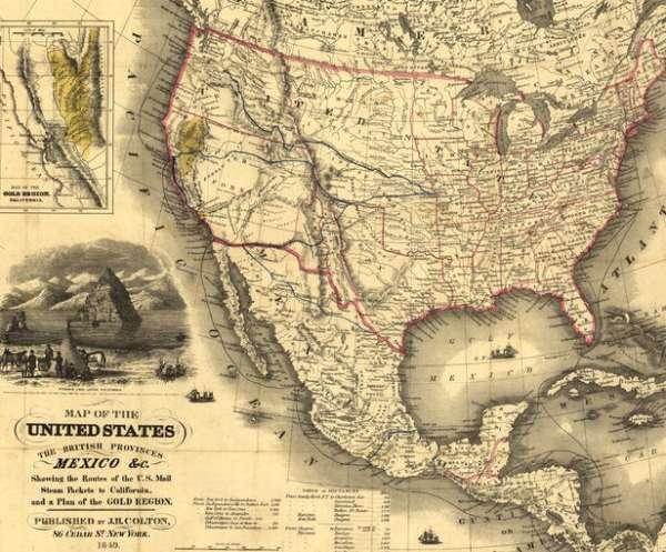 De Estados Mapa Con Capitales Unidos