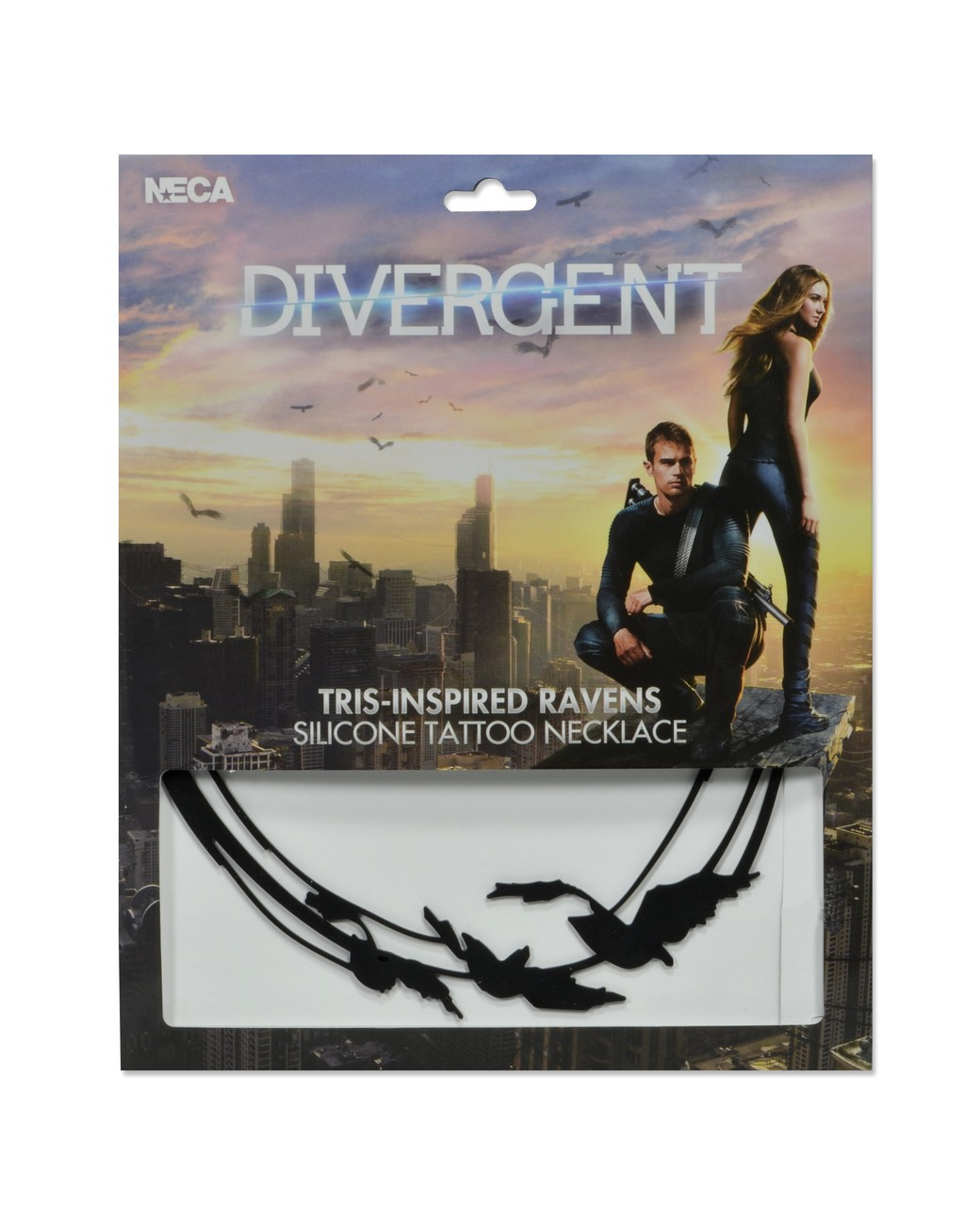 Divergent – Tris-Inspired Ravens Silicone Tattoo Necklace ...