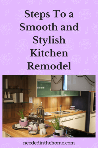 Steps To a Smooth and Stylish Kitchen Remodel   NeededInTheHome oak kitchen walls oak countertops potted plants lighting creamer sugar sink  Steps To a Smooth and
