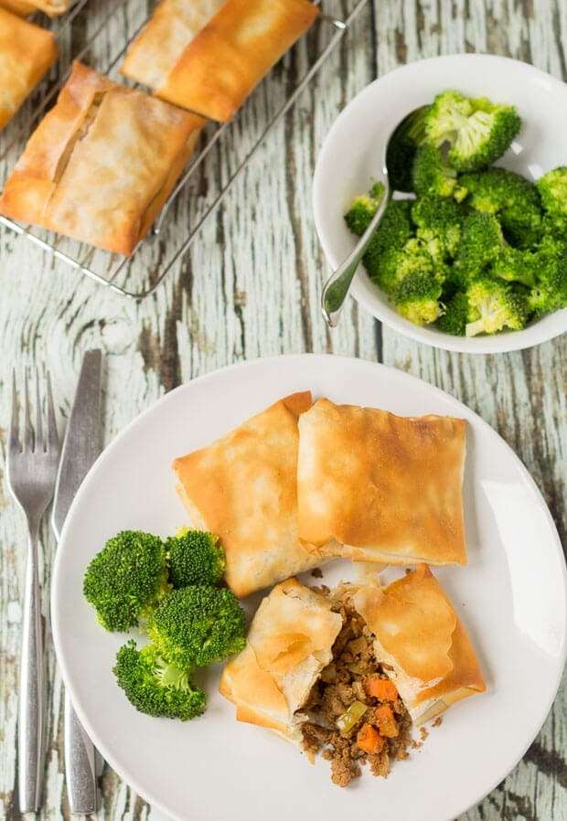 Spiced Quorn Filo Pastry Parcels - Neils Healthy Meals