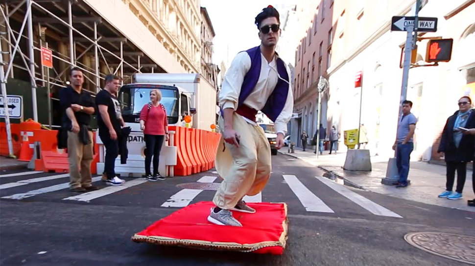 Aladdin Costume with Working Magic Carpet Wins the Weekend   Nerdist Aladdin Costume with Working Magic Carpet Wins the Weekend