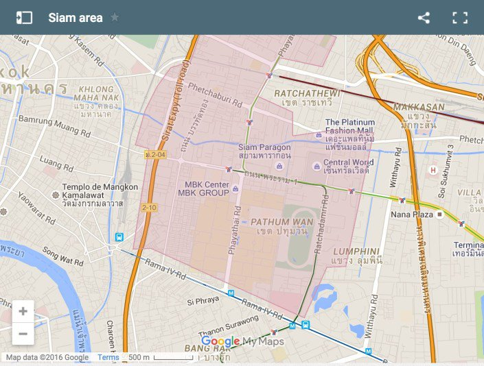 Where To Stay In Bangkok   Our Favourite Areas   Hotels Map showing where to stay in Siam