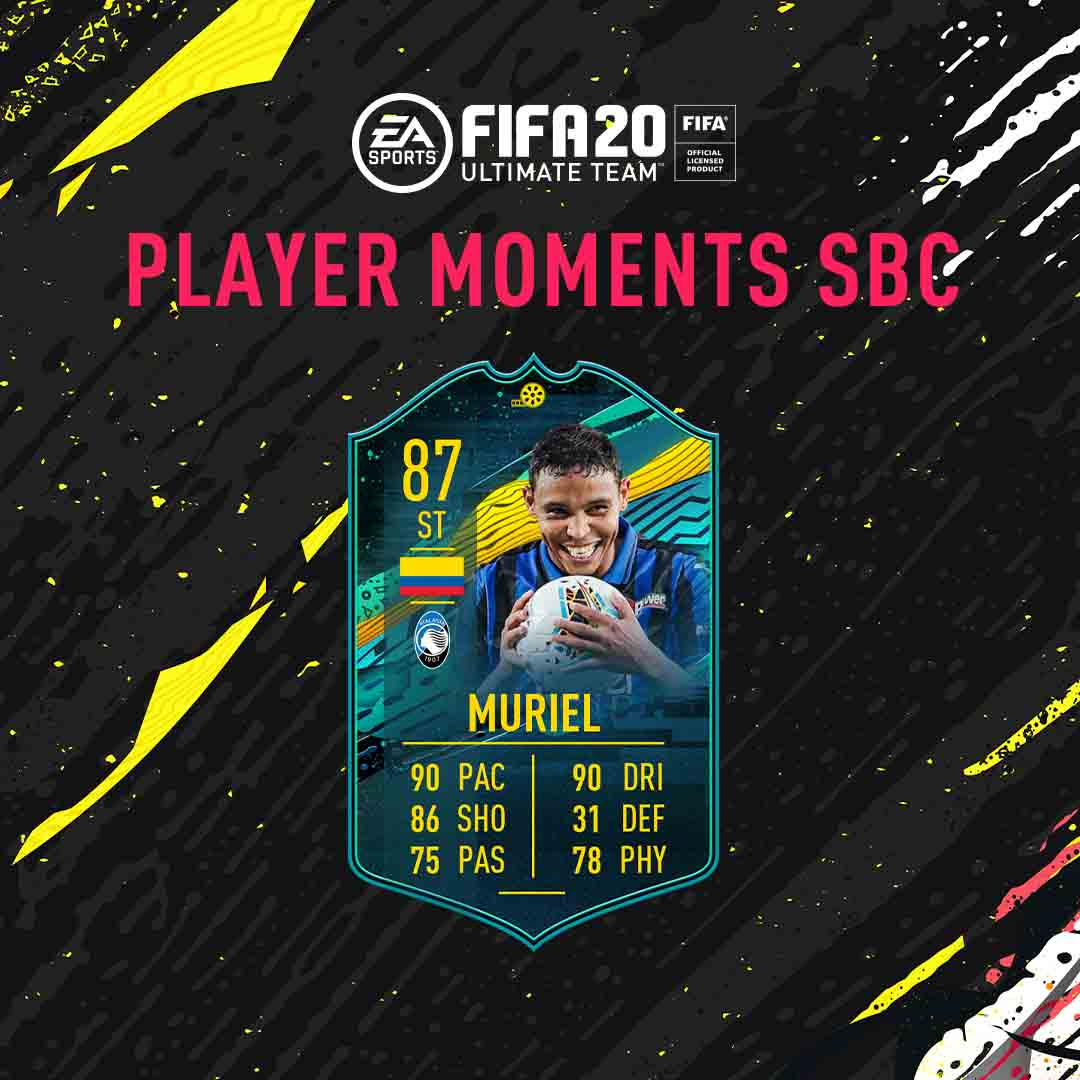 FIFA 20 Ultimate Team - Luis Muriel Player Moments SBC FUT