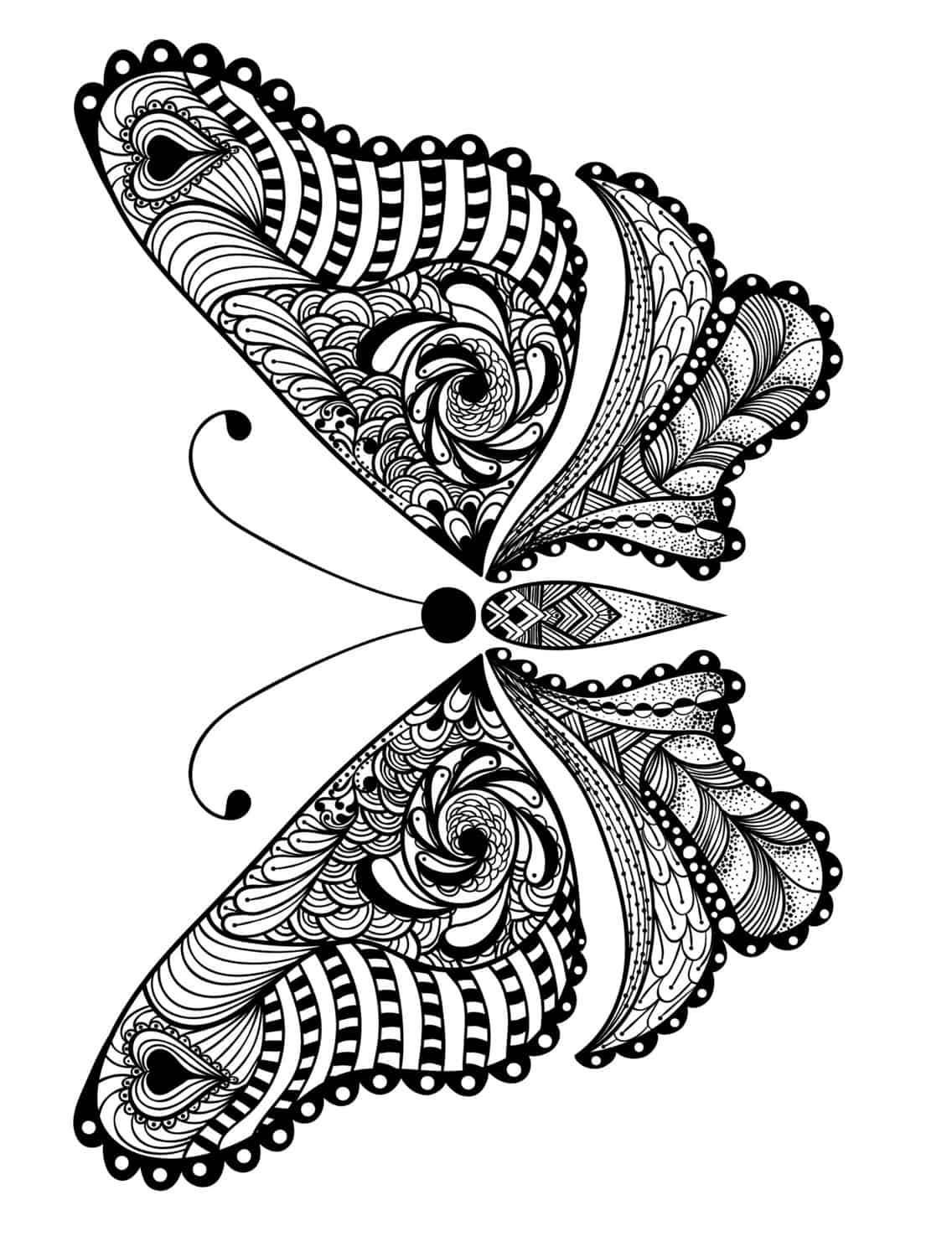23 Free Printable Insect Animal Adult Coloring Pages Page 24