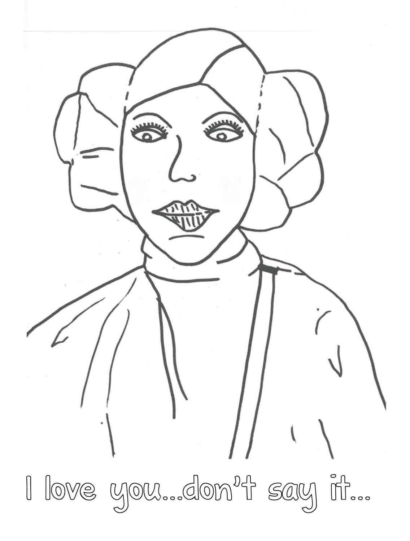 Princess Leia Coloring Pages Printable