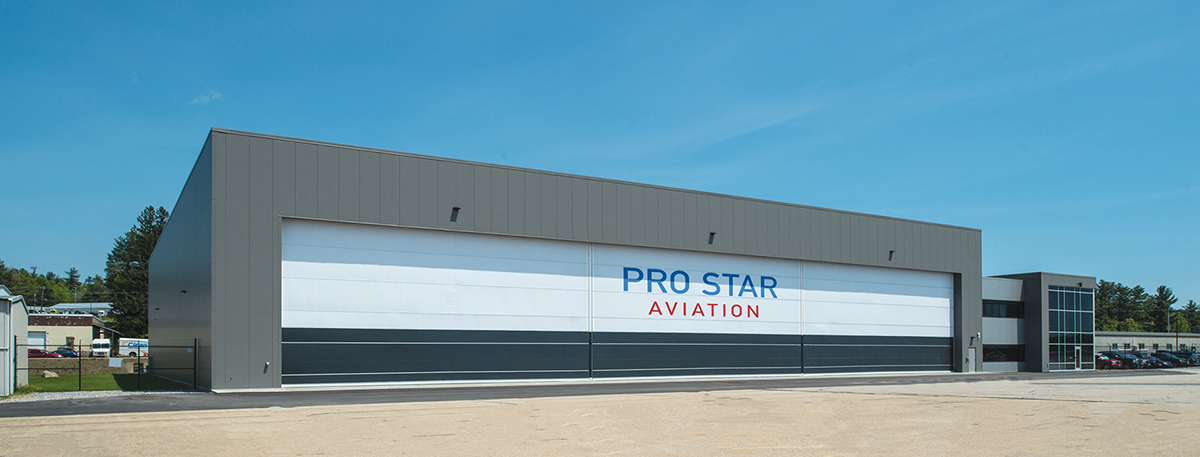 PROCON designs and builds 45 000 s f hangar and shop for Pro Star     Londonderry  NH In spring  Pro Star Aviation opened the doors of its new  45 000 s f hangar and shop  Excited employees moved into their new  headquarters at