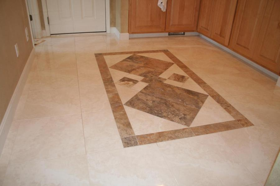 Nest Homes Construction   Floor and Wall Tile Designs     Hallway with Small Travertine Designee