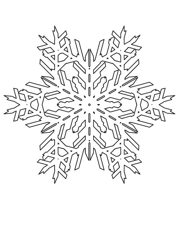 Lovely Snowflakes Pattern Coloring Page Netart