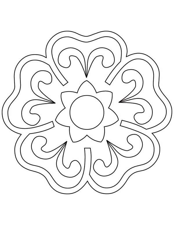 rangoli coloring pages # 33