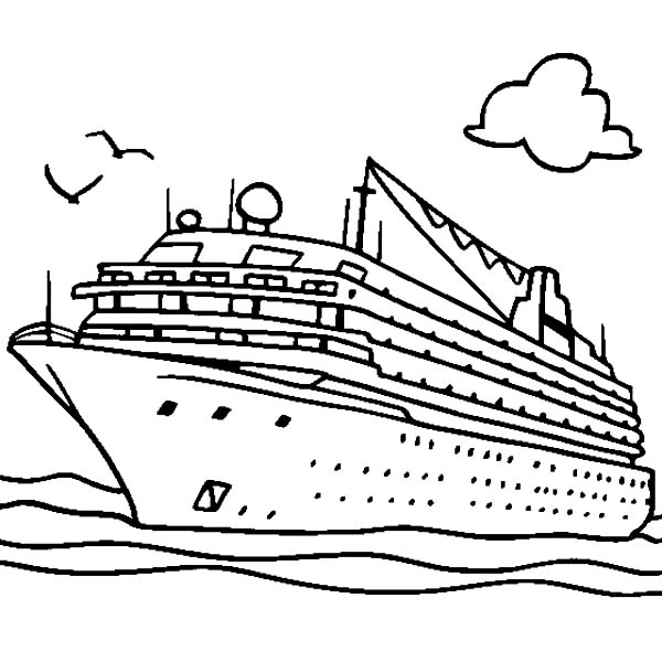 Easy Draw Cruise Ships