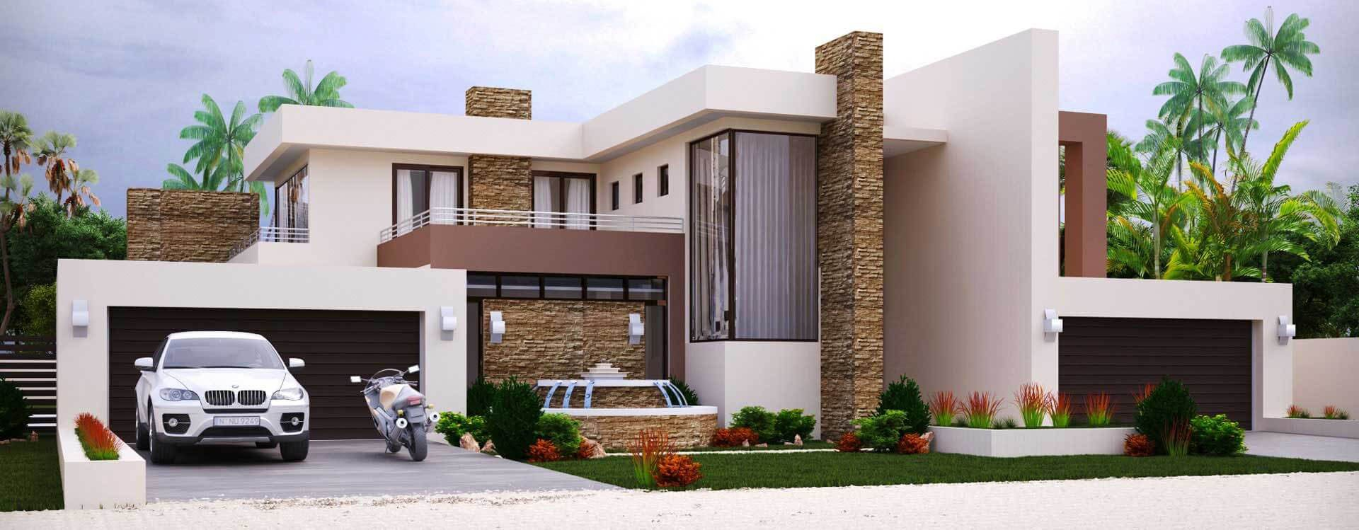 4 bedroom house plan m497d modern house plan 497sqm double storey home design