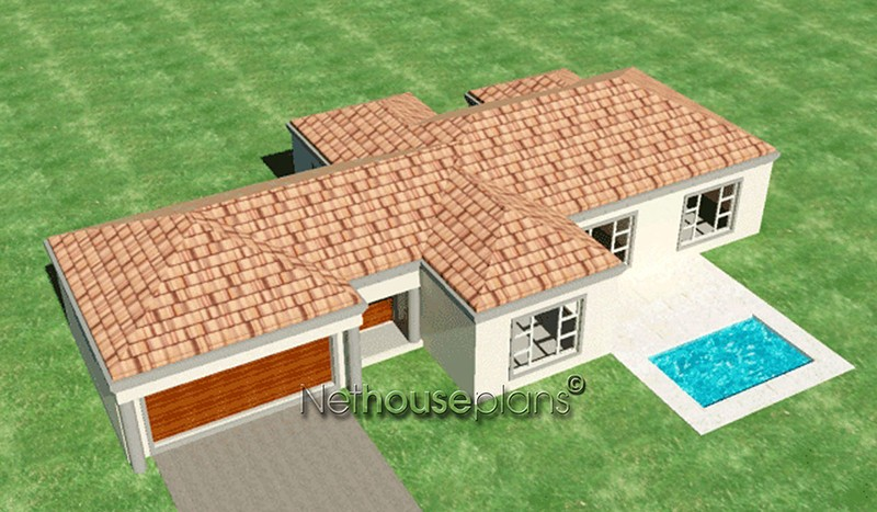 Modern Tuscan Style House Plan, 3 Bedroom , Single Storey