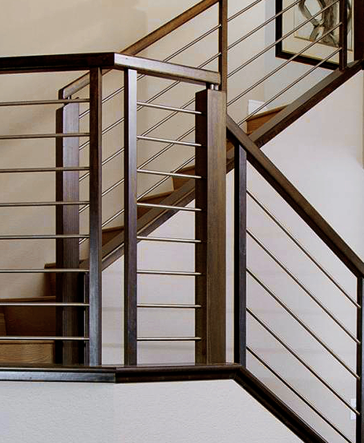 Nevada Stairs Photo Gallery | Modern Horizontal Stair Railing | Really Thin | Interior | Cast Iron | Cable | Elegant