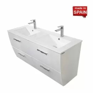 48Inch LONDON DOUBLE BATHROOM VANITY SOCIMOBEL MADE IN SPAIN 48DB-GW-2