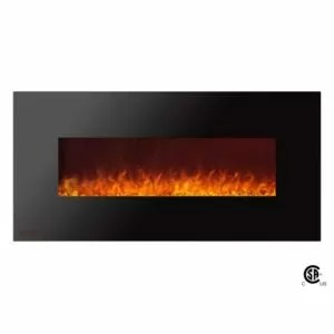 Royal Series - Electric Wall Mount Fireplace with Crystals - 50 inch