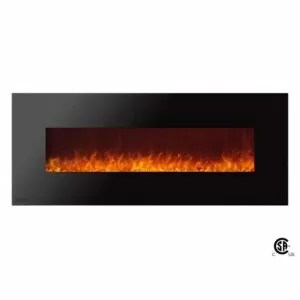 Royal Series - Electric Wall Mount Fireplace with Crystals - 60 inch