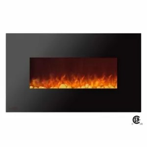 Royal Series - Wall Mount Electric Fireplace with Pebbles - 36 inch