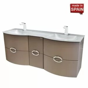 Socimobel 60in Wall Mount ANAIS Metal Brum European Bathroom Vanity_