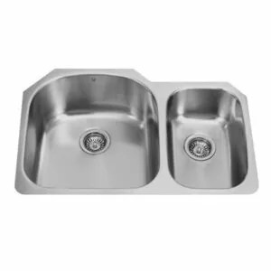 Vigo VG3121L 31-inch Undermount Stainless Steel 18 Gauge Double Bowl Kitchen Sink