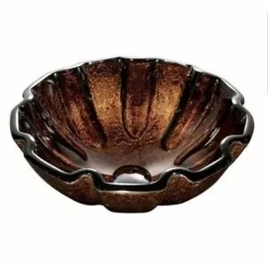 Walnut Shell Glass Vessel Bathroom Sink VIGO Model number VG07038