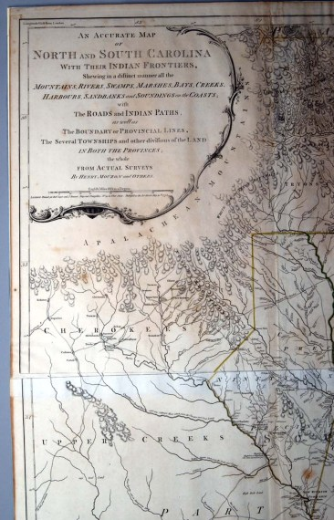 Mouzon Map of North Carolina  1775