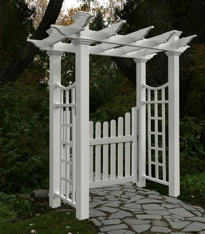Cottage Picket Gate New England Arbors