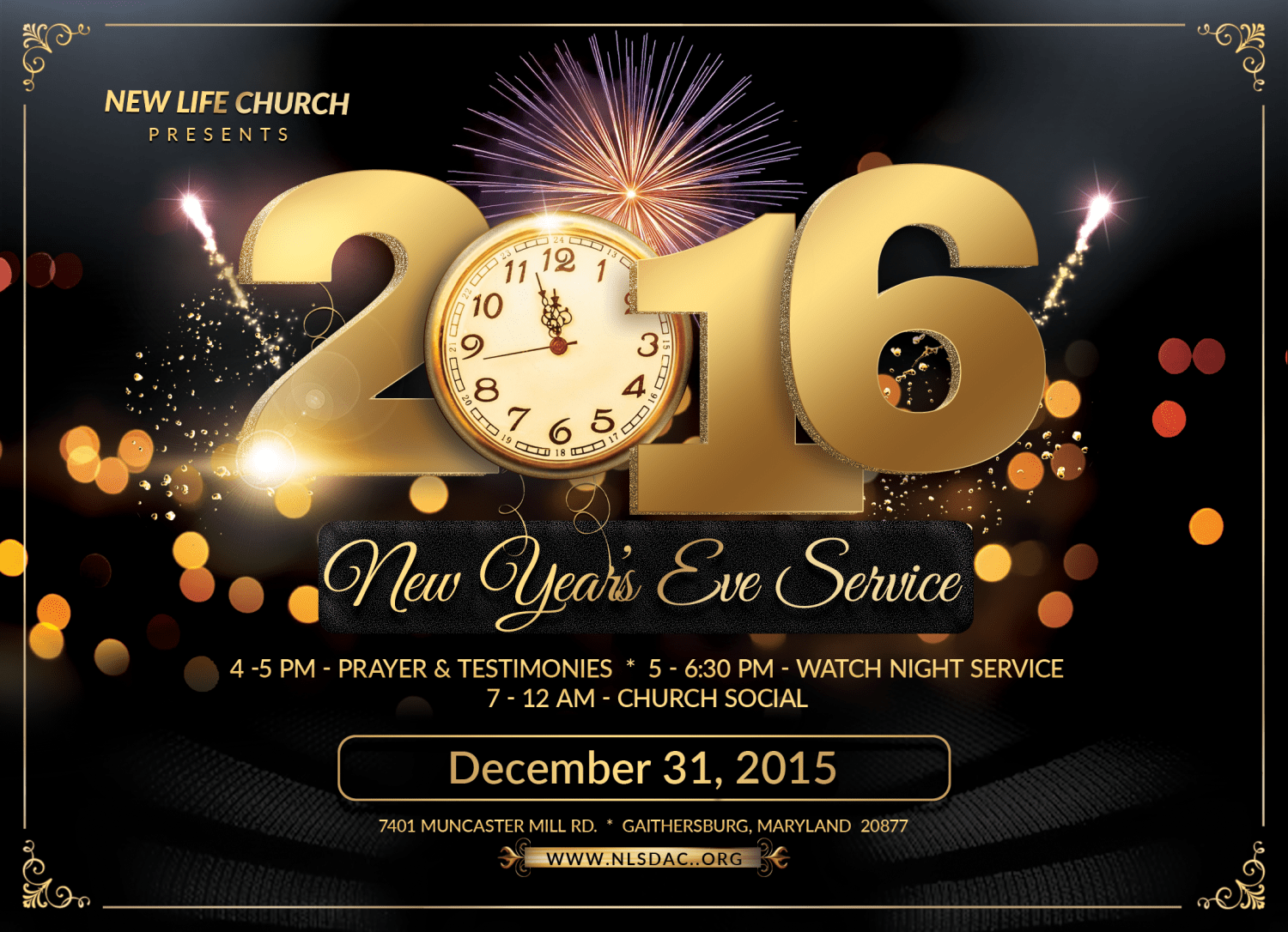New Year s Eve Celebration     New Life Church Web Site Event details
