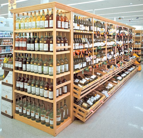 Wine and Liquor Wood Display Store Fixtures  Newood Display Fixtures Gallery Photos