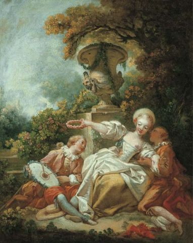 A Brief History of Rococo Art   artnet News Jean Honor     Fragonard  La coquette fix    e  The Fascinated Coquette   sold at  Christie s
