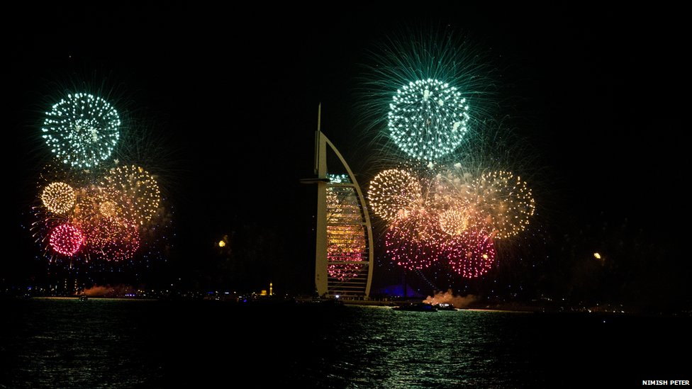 BBC News   Your New Year s Eve pictures New Year fireworks in Dubai  Photo  Nimish Peter