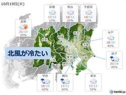 話題-関東 きょうも北風が冷たい1日に 11月上旬から中旬並みの肌寒さが続く