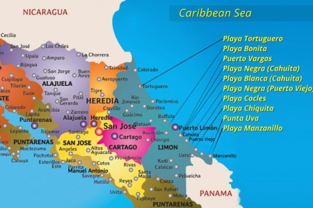 nicaragua location on the caribbean map » Full HD MAPS Locations ...