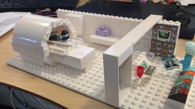 Young patients learn from lego   Meridian   ITV News Scanner made out of lego Credit  Royal Berkshire Hospital