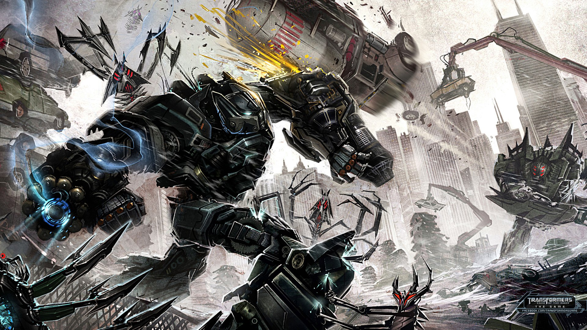 Transformers: Dark Of The Moon Video Game Concept Art ...