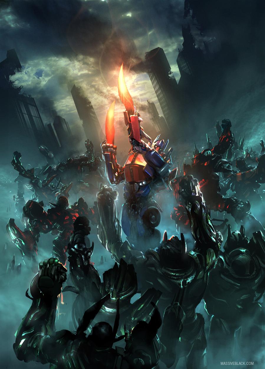 Massive Black Transformers: Dark Of The Moon Concept Art ...