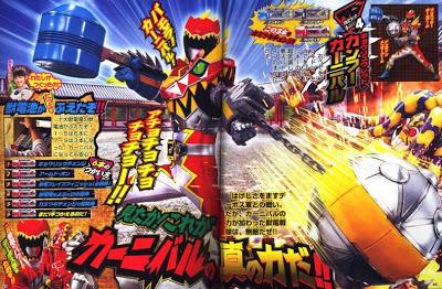 Magazine Scans for Kamen Riders Wizard & Gaim, Kyoryuger ...