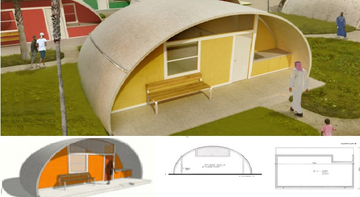 Concrete Dome House Inflate