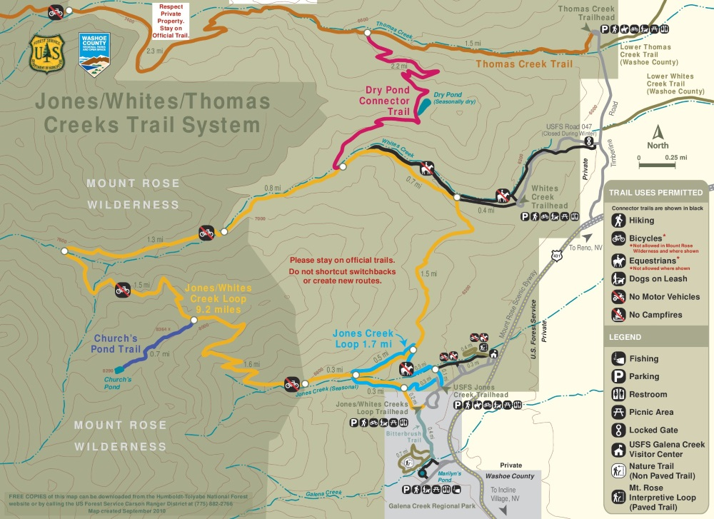 Hiking Trails Map   Thomas Creek  Whites Creek  Dry Pond  Reno     Hiking Trails   Thomas Creek  Whites Creek  Dry Pond hiking trails map