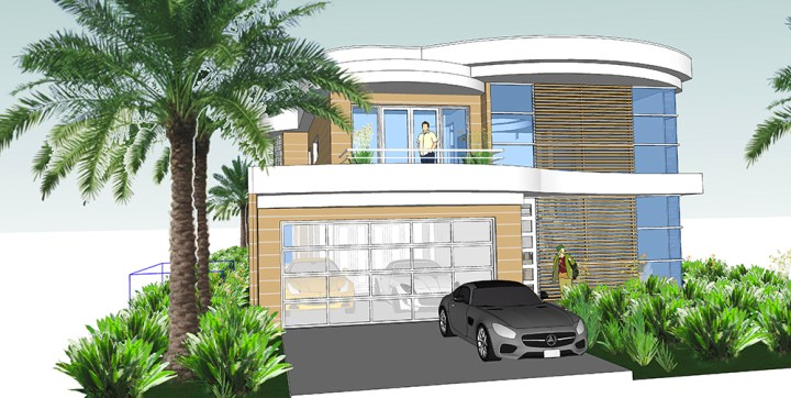 Luxury Dream House on Narrow Lot House Plans     Next Generation     The minimum lot size for this home is 50    wide X 150    long  perfect for a  side view home or a narrow row of homes