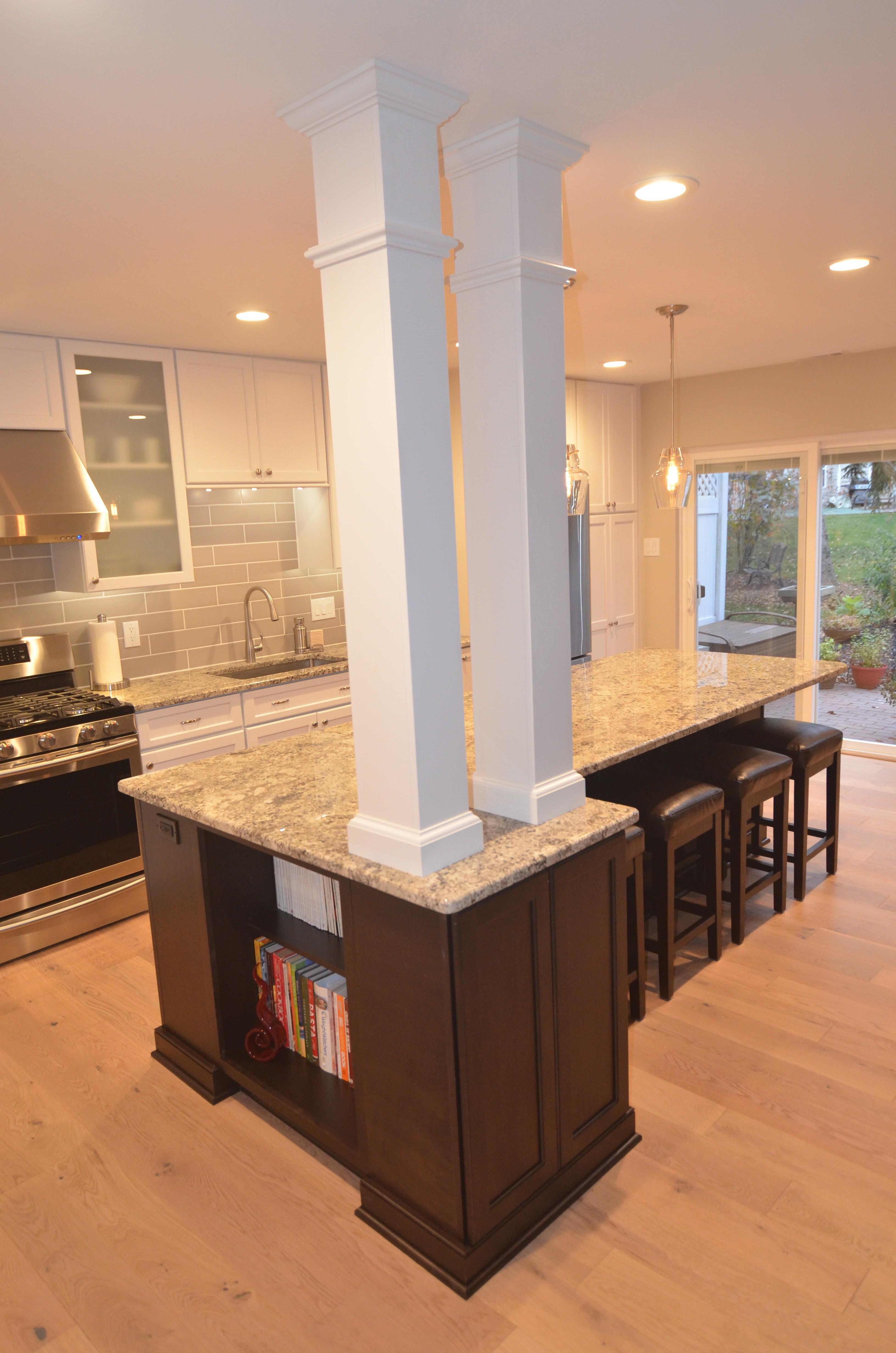 Kitchen Island Columns Next Level Remodeling