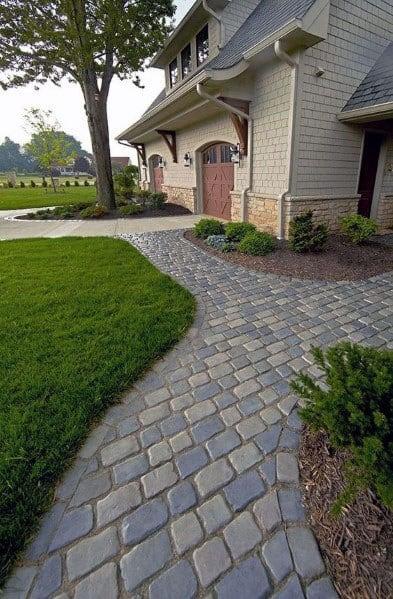 Top 50 Best Paver Walkway Ideas Exterior Hardscape Designs