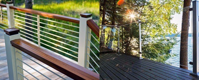 Top 70 Best Deck Railing Ideas Outdoor Design Inspiration   Outdoor Banisters And Railings   Deck   Trex   Wood   Stair Stringers   Concrete
