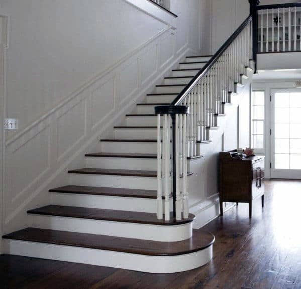Top 70 Best Stair Railing Ideas Indoor Staircase Designs | White Wood Stair Railing | Entryway Stair | Metal | Outdoor Stair | Baluster Curved Stylish Overview Stair | Glass