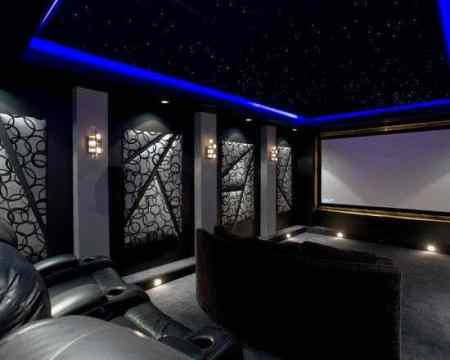 80 Home Theater Design Ideas For Men   Movie Room Retreats Fully Custom Movie Room Home Theater Design Ideas