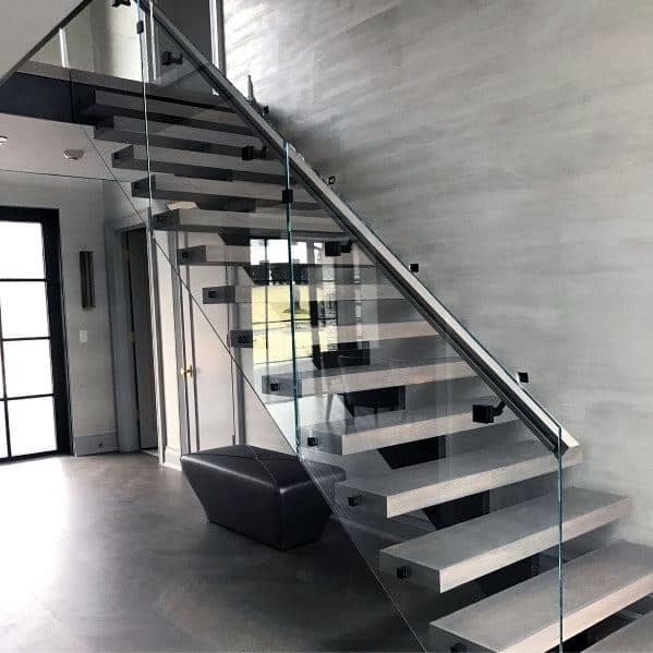 Top 70 Best Stair Railing Ideas Indoor Staircase Designs | Steps Railing Designs With Glass | Terrace Staircase | Tempered Glass | Indoor | Crystal | Small Space