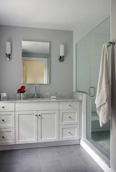 Top 60 Best Grey Bathroom Tile Ideas Neutral Interior