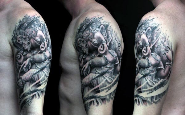 90 Ganesh Tattoo Designs For Men - Hindu Ink Ideas