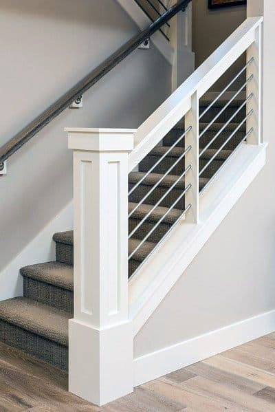 Top 70 Best Stair Railing Ideas Indoor Staircase Designs | Modern Newel Post Designs | Contemporary | Maple | Staircase Spindle | Modern Box | Hollow