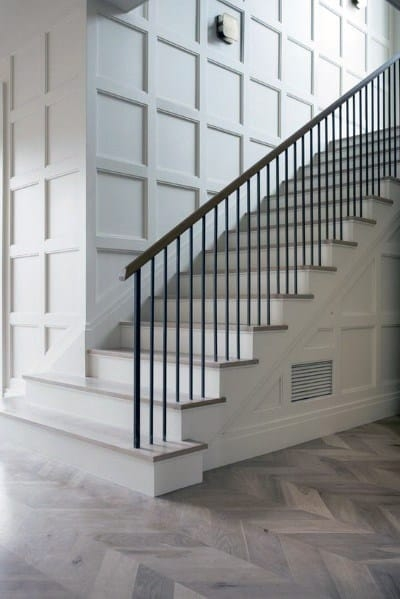 Top 60 Best Stair Trim Ideas Staircase Molding Designs | Pop Design For Stairs Wall | Frame Up | Main Entrance | Wall Paper | Entry Wall | Luxury
