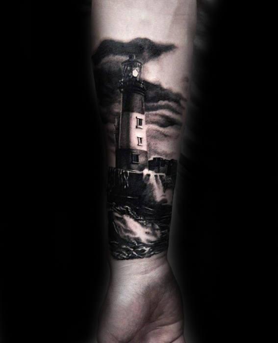 Tree Forearm Sleeve Tattoos Men